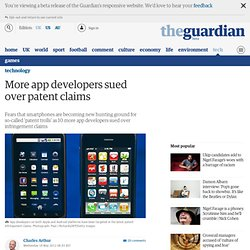 More app developers sued over patent claims | Technology