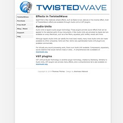 More effects for TwistedWave