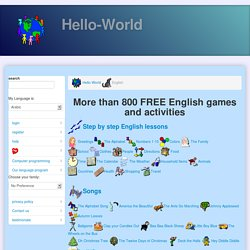 More than 800 FREE English games and activities