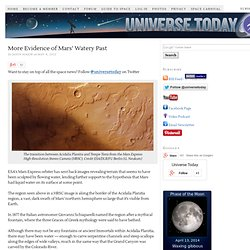 More Evidence of Mars' Watery Past
