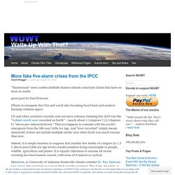 More fake five-alarm crises from the IPCC