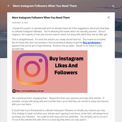 More Instagram Followers When You Need Them