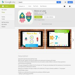 More or Less - Android Apps on Google Play