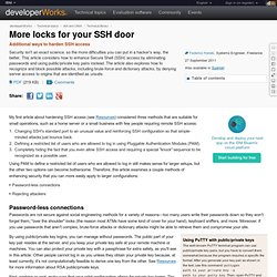 More locks for your SSH door