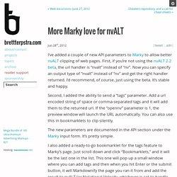 More Marky love for nvALT