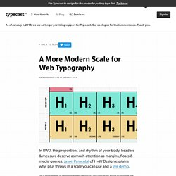 A More Modern Scale for Web Typography