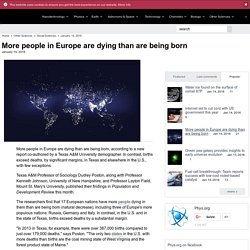More people in Europe are dying than are being born