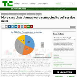 More cars than phones were connected to cell service in Q1