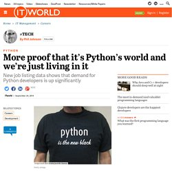 More proof that it's Python's world and we're just living in it