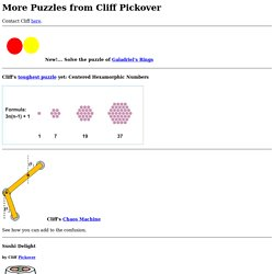 More Puzzles from Cliff Pickover