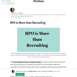 RPO is More than Recruiting – Rylee Turner
