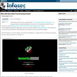 More Dot-Gov Sites Found Compromised