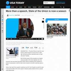 More than a speech, State of the Union is now a season