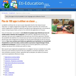 Sélection de 100 applications par eti-education