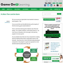 It's More Than Just the Game | Game On! Learning