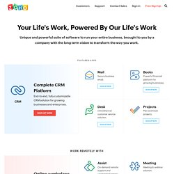 ZOHO - Email Hosting, CRM, Project Management, Office Suite, Document Management, Remote Support, Online Forums Software, Intranet