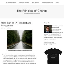 More than an 'A'; Mindset and Assessment
