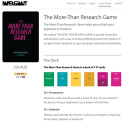 The More-Than Research Game – Paper Giant