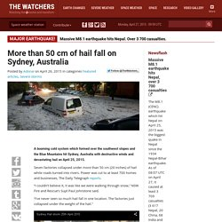 More than 50 cm of hail fall on Sydney, Australia