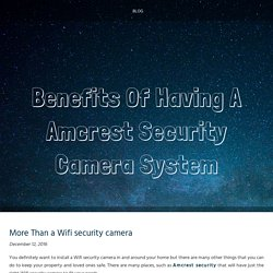 More Than a Wifi security camera
