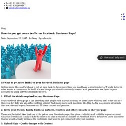 How do you get more traffic on Facebook business page?