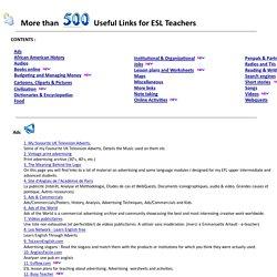 More than 350 useful Links for ESL teachers - JLM