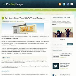 Get More From Your Site's Visual Acreage