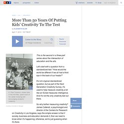 More Than 50 Years Of Putting Kids' Creativity To The Test