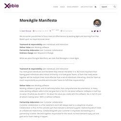 MoreAgile Manifesto