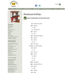 .:: Morehouse Merino ::.  Morehouse Farm Knitting Tips ..