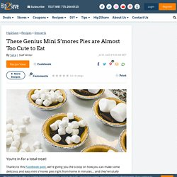Easy Mini S'mores Pies — Viral Recipe Hack