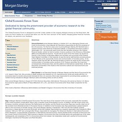 Morgan Stanley - Global Economic Forum Team