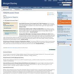 Morgan Stanley - Global Economic Forum