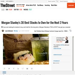 Morgan Stanley's 30 Best Stocks to Own for the Next 3 Years - TheStreet