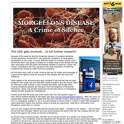 Morgellons Disease - A Crime of Silence