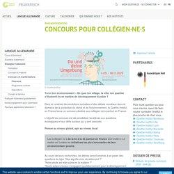 Concours pour collégien·ne·s - #morgenfängtjetztan: Goethe-Institut Frankreich
