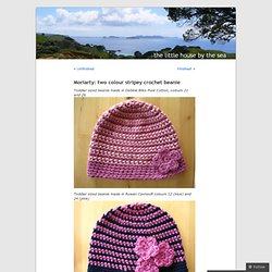 Moriarty: two colour stripey crochet beanie « The little house by the sea