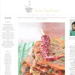 Nugge Soppu Kara Rotti – Spicy Moringa Leaves Pancakes (Gluten Free + Vegan)