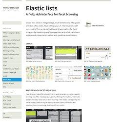 Elastic lists