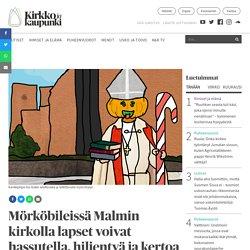 Mörköbileissä Malmin kirkolla lapset voivat hassutella, hiljentyä ja kertoa huolistaan Karkkipiispalle