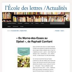 «Du Morne-des-Esses au Djebel», de Raphaël Confiant