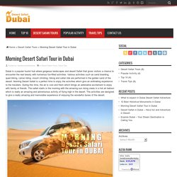Morning Desert Safari Tour in Dubai - Best Desert Safari Dubai