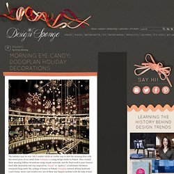 Design*Sponge » Blog Archive » morning eye candy: dodoplan holiday decorations