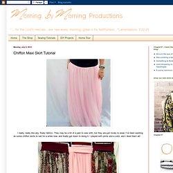Chiffon Maxi Skirt Tutorial