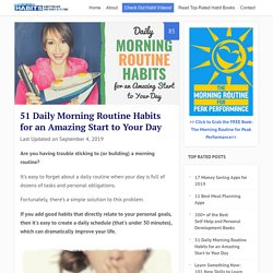 34 Morning Daily Routine Habits for a Healthy Start to Your Day