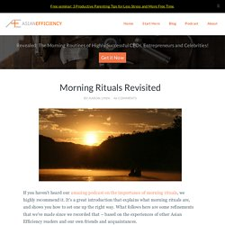 The Best Daily Morning Routine or Morning Ritual For Success