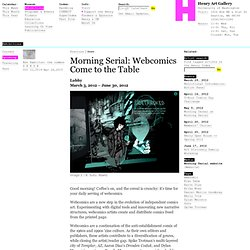 Morning Serial: Webcomics Come to the Table: Henry Art Gallery