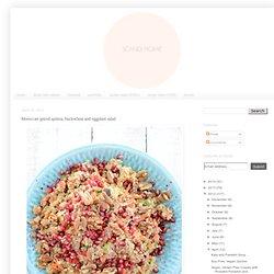 Moroccan spiced quinoa, buckwheat and eggplant salad