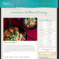 Moroccan Butternut Curry