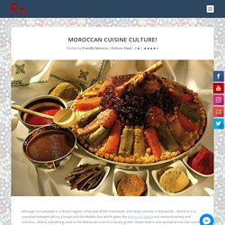 Moroccan cuisine culture! - Friendly Morocco